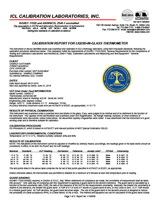 Temperature calibration icl calibration sample temperature calibration report yadclub Images