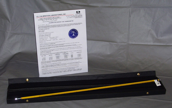 NIST Traceable Fractional Degree Calibrated Thermometers
